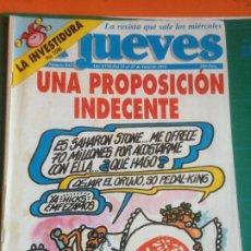 Coleccionismo de Revista El Jueves: EL JUEVES 843 21 AL 27 JULIO 1993 UNA PROPSICIÓN INDECENTE - POSTER STING. Lote 222785608