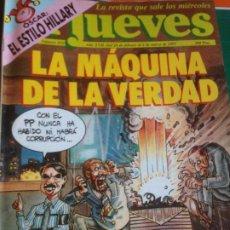 Coleccionismo de Revista El Jueves: EL JUEVES 822 24 FBRERO AL 2 MARZO 1993 LA MAQUINA DE LA VERDAD - POSTER ACERCATE A LOS LIBROS. Lote 222786161
