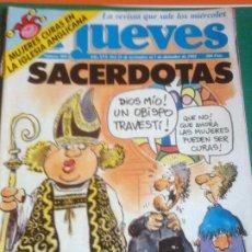 Coleccionismo de Revista El Jueves: EL JUEVES 809 - 25 NOVIEMBRE AL 1 DICIEMBRE 1992 - SACERDOTAS - POSTER BEATLES LOVE ME DO. Lote 222786447