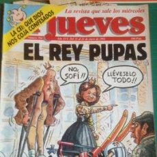 Coleccionismo de Revista El Jueves: EL JUEVES 764 - 15 AL 21 ENERO 1992 - EL REY PUPAS - POSTER FUSIÓN CENTRAL - HISPANO. Lote 222854330
