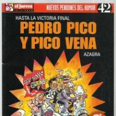 Coleccionismo de Revista El Jueves: NUEVOS PENDONES DEL HUMOR 42: PEDRO PICO Y PICO VENA, 1989, EL JUEVES, BUEN ESTADO. Lote 245783525