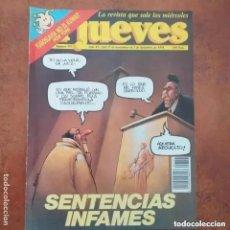 Coleccionismo de Revista El Jueves: EL JUEVES NUM 757. SENTENCIAS INFAMES. Lote 227947188