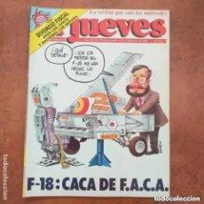 Coleccionismo de Revista El Jueves: EL JUEVES NUM 601. F-18 CACA DE F.A.C.A.. Lote 227950410