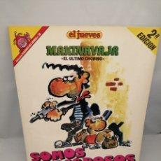 Coleccionismo de Revista El Jueves: MAKINAVAJA. EL ÚLTIMO CHORIZO (PENDONES DEL HUMOR 38). PERFECTO ESTADO. Lote 232812115
