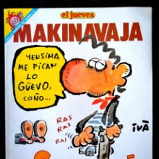 Coleccionismo de Revista El Jueves: COL. PENDONES DEL HUMOR Nº 75 - MAKINAVAJA- NOSOMOSNÁ (IVÁ) ED. EL JUEVES 1992 ''EXCELENTE ESTADO''. Lote 234640410