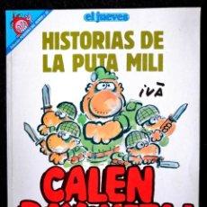Coleccionismo de Revista El Jueves: COL. PENDONES DEL HUMOR Nº 82 - HISTORIAS DE LA PUTA MILI - ED. EL JUEVES 1992 ''EXCELENTE ESTADO''. Lote 234641240