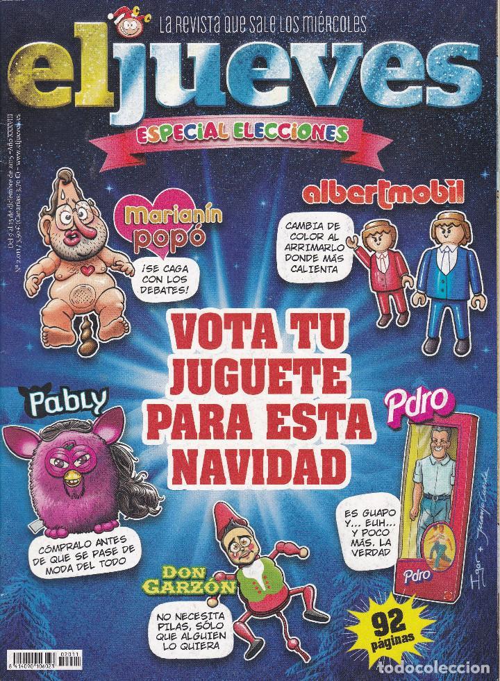 REVISTA EL JUEVES NÚMERO 2011 (2015) ESPECIAL ELECCIONES (Coleccionismo - Revistas y Periódicos Modernos (a partir de 1.940) - Revista El Jueves)