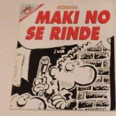 Coleccionismo de Revista El Jueves: PENDONES DEL HUMOR 131 - MAKI NAVAJA. MAKI NO SE RINDE - EL JUEVES AÑO 1996. Lote 235384250