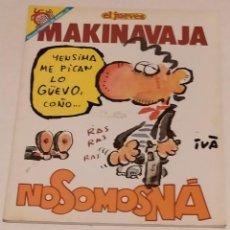 Coleccionismo de Revista El Jueves: PENDONES DEL HUMOR 73 - MAKI NAVAJA. NO SOMOS NA - EL JUEVES AÑO 1991. Lote 235384420