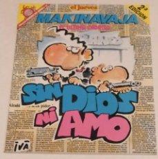 Coleccionismo de Revista El Jueves: PENDONES DEL HUMOR 51 - MAKI NAVAJA. SIN DIOS NI AMO - EL JUEVES AÑO 1992. Lote 235384510