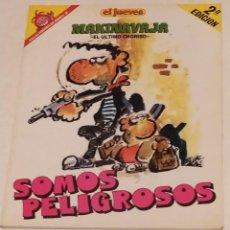 Coleccionismo de Revista El Jueves: PENDONES DEL HUMOR 38 - MAKI NAVAJA. SOMOS PELIGROSOS - EL JUEVES AÑO 1991. Lote 235384665