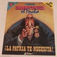 Coleccionismo de Revista El Jueves: PENDONES DEL HUMOR Nº 18 -MARTINEZ EL FACHA. LA PATRIA TE NECESITA-EL JUEVES AÑO 1991. Lote 236209370