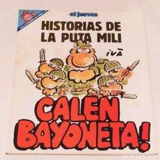 Coleccionismo de Revista El Jueves: PENDONES DEL HUMOR Nº 82 -HISTORIAS DE LA PUTA MILI- CALEN BAYONETA! -EL JUEVES AÑO 1992. Lote 236210360
