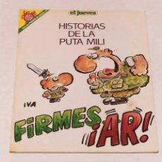 Coleccionismo de Revista El Jueves: PENDONES DEL HUMOR Nº 57 -HISTORIAS DE LA PUTA MILI- FIRMES... AR! -EL JUEVES AÑO 1990. Lote 236212455