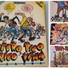 Collectionnisme de Magazine El Jueves: PENDONES DEL HUMOR / EL JUEVES / PEDRO PICO PICO VENA / AZAGRA / 14 - 32 - 44 - 56. Lote 237003930