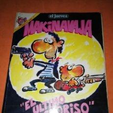 Collectionnisme de Magazine El Jueves: EL JUEVES. PENDONES DEL HUMOR Nº 27. MAKINAVAJA. EL ULTIMO CHORISO. IVÁ. 1987. Lote 237914070