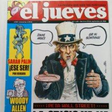 Coleccionismo de Revista El Jueves: EL JUEVES - AÑO XXXI Nº 1635 - DEL 24 AL 30 DE SEPTIEMBRE DE 2008. Lote 244410275