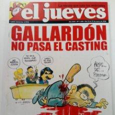 Coleccionismo de Revista El Jueves: EL JUEVES - AÑO XXXI Nº 1600 - DEL 23 AL 29 DE ENERO DE 2008. Lote 244410425