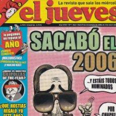 Coleccionismo de Revista El Jueves: REVISTA EL JUEVES NÚMERO 1544 : SACABÓ EL 2006. EDITADO EN 2007.. Lote 244820490
