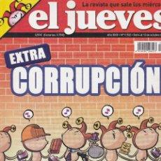 Coleccionismo de Revista El Jueves: REVISTA EL JUEVES NÚMERO 1532 : EXTRA CORRUPCIÓN. EDITADO EN 2006.. Lote 244827195