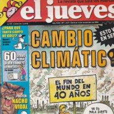 Coleccionismo de Revista El Jueves: REVISTA EL JUEVES NÚMERO 1537 : CAMBIO CLIMATICO.ESTO VA EN SERIO. EDITADO EN 2006.. Lote 244876565