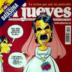 Coleccionismo de Revista El Jueves: LA NENA DE LOS AZNAR SE CASA. REVISTA EL JUEVES. Lote 245381855