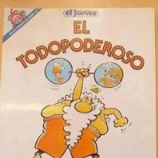 Coleccionismo de Revista El Jueves: PENDONES DEL HUMOR. NUM 58. EL TODOPODEROSO.. Lote 246157340