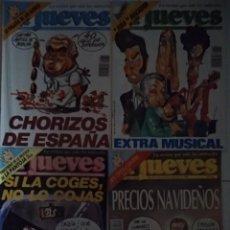 Coleccionismo de Revista El Jueves: LOTE 4 REVISTAS ANTIGUAS EL JUEVES. Lote 246484600