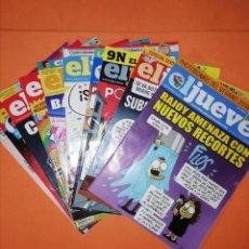 Coleccionismo de Revista El Jueves: EL JUEVES. LOTE DE 11 NUMEROS. 1945,47,55,61,62,63,66,71,72,73 Y 1976. MUY BUEN ESTADO.. Lote 248283350