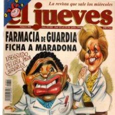 Colecionismo da Revista El Jueves: EL JUEVES. Nº 894. FARMACIA DE GUARDIA FICHA A MARADONA. POSTER: KIM. 13 JULIO 1994. (C/A28). Lote 252491960