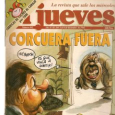 Colecionismo da Revista El Jueves: EL JUEVES. Nº 862. CORCUERA FUERA. POSTER: VENTURA. 1 DICIEMBRE 1993. (ST/.2). Lote 253497165