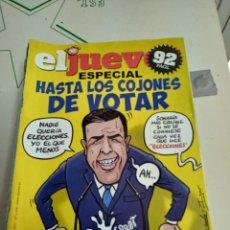Coleccionismo de Revista El Jueves: X EL JUEVES 2209 ESPECIAL HASTA LOS COJONES DE VOTAR. Lote 254888515