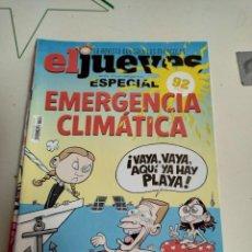 Coleccionismo de Revista El Jueves: X EL JUEVES 2219 ESPECIAL EMERGENCIA CLIMATICA. Lote 254892430