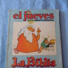 Coleccionismo de Revista El Jueves: EL JUEVES - SUPLEMENTO MENSUAL - LA BIBLIA, CONTADA POR LOS PASOTAS. Lote 255378855