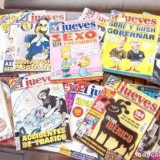 Coleccionismo de Revista El Jueves: LOTE DE 90 REVISTAS EL JUEVES DIFICILES ALGUNAS PRINCIPIO AÑOS 2000.. Lote 262102475