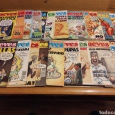 Coleccionismo de Revista El Jueves: 19 REVISTAS EL JUEVES DEL AÑO 1991 Y 1992. Lote 262142715