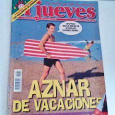 Coleccionismo de Revista El Jueves: REVISTA EL JUEVES AZNAR DE VACACIONES N 1105 JULIO AGOSTO 1998. Lote 262400610