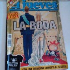 Coleccionismo de Revista El Jueves: REVISTA EL JUEVES. EXTRA REAL. LA BODA. MAYO 2004 N 1048. Lote 262401585