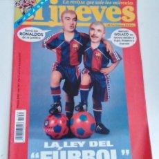 Coleccionismo de Revista El Jueves: REVISTA EL JUEVES LA LEY DEL FURBOL. N 1046 JUNIO 1997. Lote 262402020