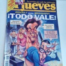 Coleccionismo de Revista El Jueves: REVISTA EL JUEVES EFECTO F CONTRA MISSISIPI TODO VALE. N 1034 MARZO 1997 INCLUYE POSTER. Lote 262404150