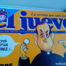 Coleccionismo de Revista El Jueves: REVISTA EL JUEVES. PADRE APELES EN LA TELE. N 1006 ABRIL 1997. Lote 262404405