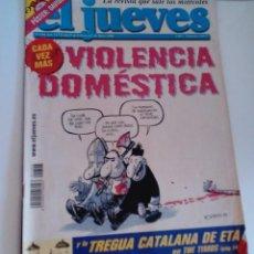 Coleccionismo de Revista El Jueves: REVISTA EL JUEVES VIOLENCIA DOMÉSTICA. N 1396 MARZO 2004 INCLUYE POSTER CENTRAL. Lote 262404595