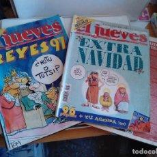 Coleccionismo de Revista El Jueves: LOTE REVISTAS EL JUEVES NAVIDAD. N 1023 REYES 97. N 1020 EXTRA NAVIDAD. Lote 262405710