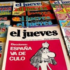 Coleccionismo de Revista El Jueves: LOTE, 21 NUMEROS DE EL JUEVES 1977 / 1984. Lote 262412240