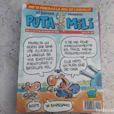 Colecionismo da Revista El Jueves: EL JUEVES PRESENTA : PUTA MILI Nº 20, 24 PAGINAS, 1992, CON POSTER DE CHICA. Lote 263641775