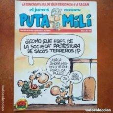 Collectionnisme de Magazine El Jueves: PUTA MILI NUM 13. Lote 264727749
