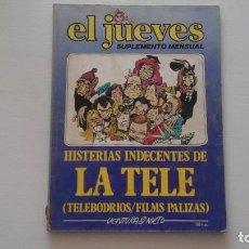 Coleccionismo de Revista El Jueves: HISTERIAS INDECENTES DE LA TELE. EL JUEVES. SUPLEMENTO SEMANAL. VENTURA&NIETO.. Lote 271628048