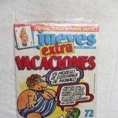Coleccionismo de Revista El Jueves: REVISTA EL JUEVES EXTRA Nº 580 JULIO DE 1988 CON LA BARAJA. Lote 276934598