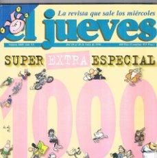 Coleccionismo de Revista El Jueves: REVISTA EL JUEVES SUPER EXTRA ESPECIAL NUMERO 1000 1996 INCLUYE POSTER. Lote 276951408