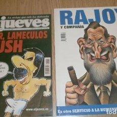 Coleccionismo de Revista El Jueves: 2 REVISTAS EL JUEVES AÑOS 2002 Y 2008.. Lote 285417363